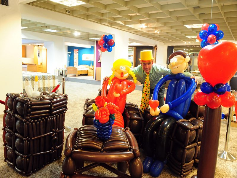 Knuffmann Neuss luftballon dekorationen faszination und spaß mit alex