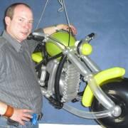 Luftballonmotorrad von Alexander Jenczmyk
