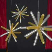 Sterne aus Modellierballons von 20 cm – ca. 1,50 m Durchmesser